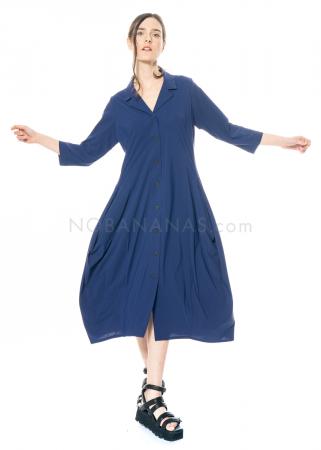 yukai, Kleid mit Hemdkragen aus Technostretch