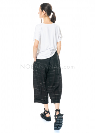 yukai, linen pants with thin stripes