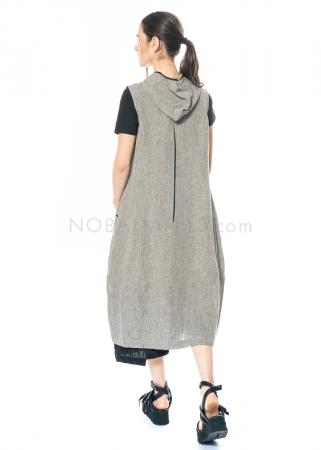 yukai, Kleid mit durchgehendem Reißverschluss aus Leinen