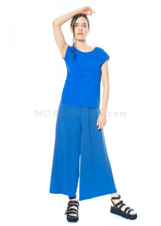 yukai, casual pants in cobalt blue