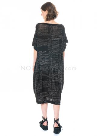 RUNDHOLZ, langes Kleid mit handgemaltem Motiv 1211080901