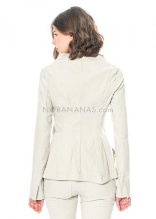 RUNDHOLZ, minimalistische Jacke aus strukturiertem Woll-Stretch 1211101101