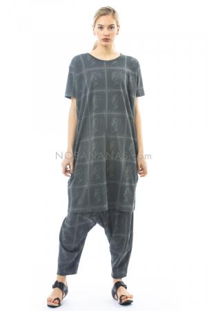 RUNDHOLZ, T-Shirt-Kleid aus Baumwolle mit Allover-Print 1201270901