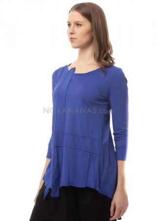 RUNDHOLZ BLACK LABEL, glockiges T-Shirt mit applizierten Streifen 1203400509.
