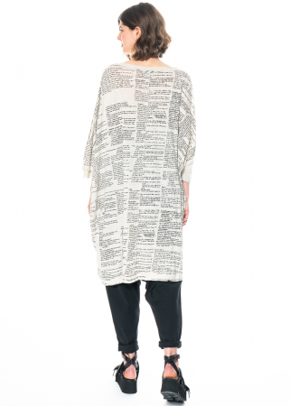 RUNDHOLZ, One Size Kleid mit handgemaltem Motiv 1211080904