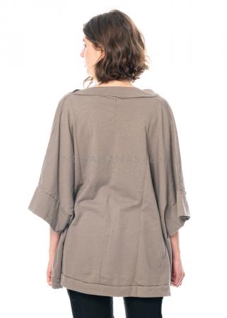 RUNDHOLZ, oversized T-Shirt mit drapiertem Ausschnitt 1211270502