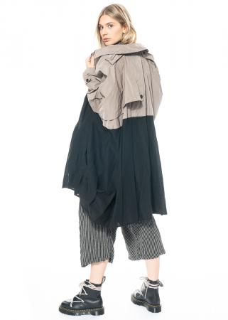 RUNDHOLZ, One Size Trenchcoat mit Volants 1211281204