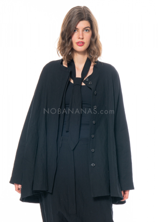 RUNDHOLZ, cropped summer coat with metal yarn 1211311205