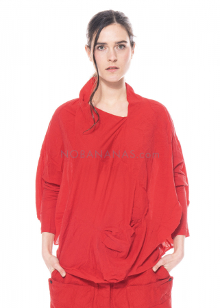 RUNDHOLZ DIP, long-sleeved balloon shirt from fine jersey 1212280502
