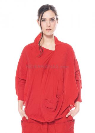 RUNDHOLZ DIP, langärmliges Ballon-Shirt aus feinem Jersey 1212280502