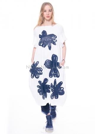 RUNDHOLZ DIP, ausgestelltes Kleid mit Blumen-Print 1212300905