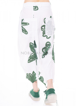 RUNDHOLZ DIP, asymmetrische Haremshose mit Blumen-Print 1212310102