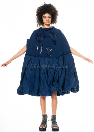 RUNDHOLZ DIP, oversized dress with volants and glossy print 1212420911