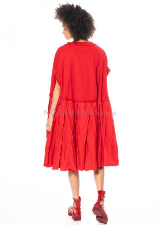 RUNDHOLZ DIP, oversized Kleid mit Volants und Lack-Print 1212420911