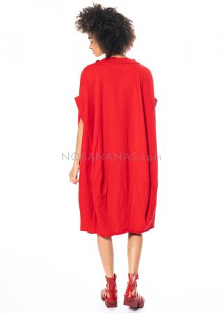 RUNDHOLZ DIP, oversized Kleid mit Lack-Print 1212420912