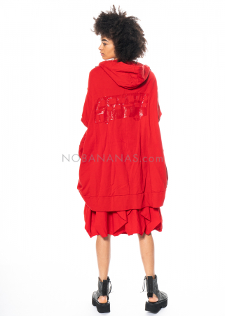 RUNDHOLZ DIP, ballonförmiger Mantel mit Lack-Print 1212421114