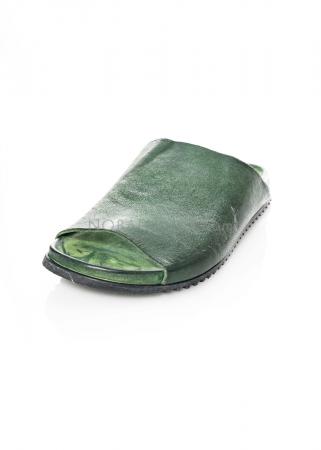 RUNDHOLZ DIP, einfarbige Lederpantolette 1212465275