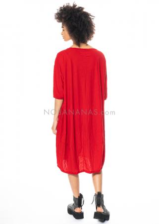RUNDHOLZ DIP, oversized T-Shirt-Kleid mit Lack-Print 1212520925