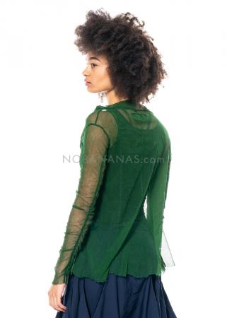 RUNDHOLZ DIP, langärmliges Tüllshirt mit Lack-Print 1212550514
