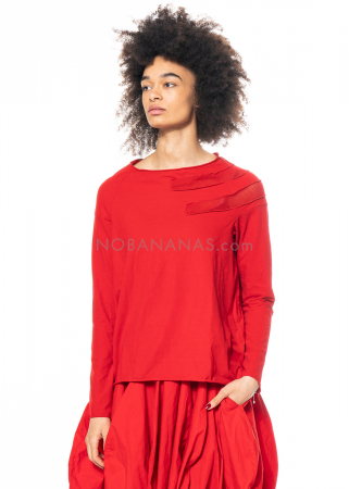 RUNDHOLZ DIP, long sleeved shirt with knit detail 1212560503