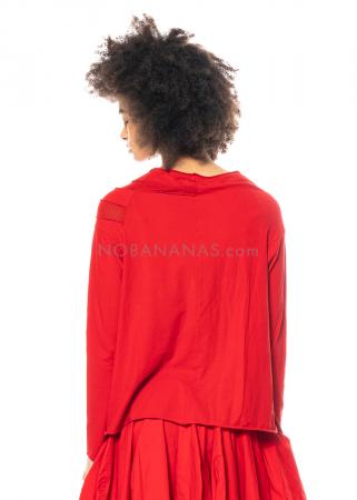 RUNDHOLZ DIP, langärmliges Shirt mit Strick-Detail 1212560503