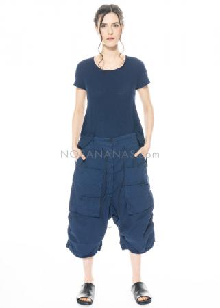 RUNDHOLZ DIP, verkürzte Hose mit geknöpften Taschen und Lederkordel 1212600103