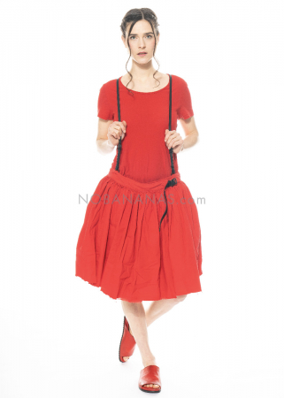 RUNDHOLZ DIP, skirt with leather harness 1212600306