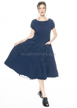 RUNDHOLZ DIP, Kleid mit geknöpften Taschen und geraffter Taille 1212600910