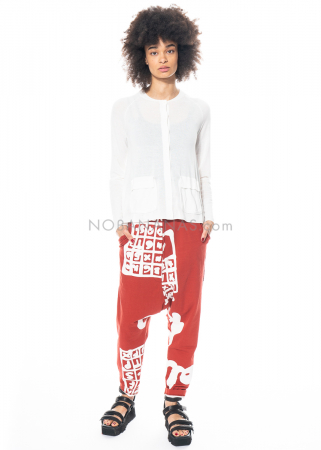 RUNDHOLZ BLACK LABEL, trousers in sweatshirt fabric with print pattern 1213290101