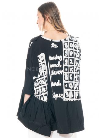 RUNDHOLZ BLACK LABEL, asymmetrisches, weites T-Shirt im Sweatshirtstoff 1213290511