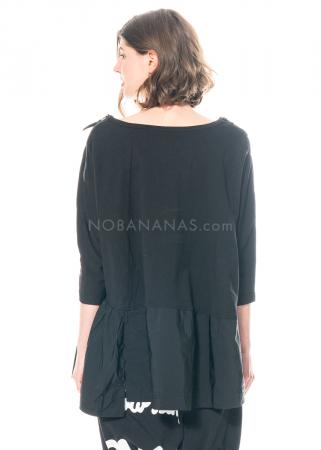 RUNDHOLZ BLACK LABEL, asymmetrisches, weites T-Shirt im Sweatshirtstoff 1213290531