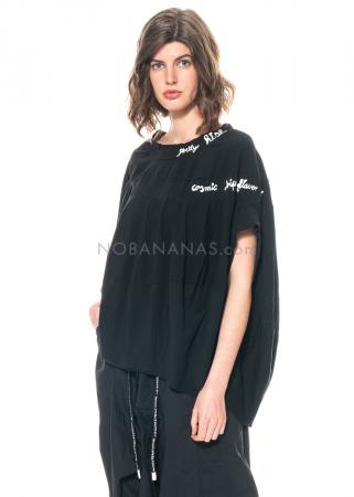 RUNDHOLZ BLACK LABEL, weites T-Shirt aus Baumwolle mit Print 1213300505