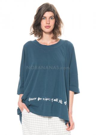RUNDHOLZ BLACK LABEL, kastiges T-Shirt mit Print 1213300510