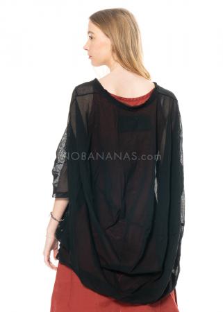 RUNDHOLZ BLACK LABEL, Kleid aus transparenter Baumwolle 1213340927