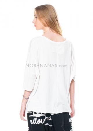 RUNDHOLZ BLACK LABEL, kastiges T-Shirt mit Print 1213370504