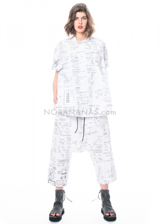 RUNDHOLZ, trousers with drawstring and mathematical print 1211340102