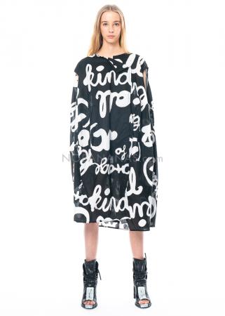 RUNDHOLZ BLACK LABEL, kugelförmiges Baumwollkleid mit Print und Crincle-Finish 1213530901