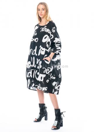 RUNDHOLZ BLACK LABEL, Baumwollkleid in Tulpenform mit Print und Crincle Finishing 1213530905