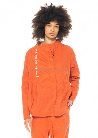RUNDHOLZ BLACK LABEL, tulpenförmige Jacke mit kleinem Stehkragen und Print 1213631103