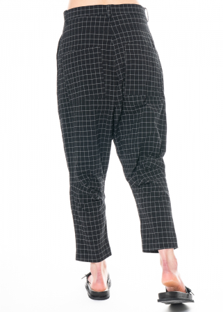 RUNDHOLZ BLACK LABEL, wide, comfortable trousers in trendy check pattern 1213830103