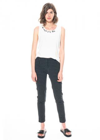RUNDHOLZ BLACK LABEL, skinny pants in trendy check pattern 1213830104