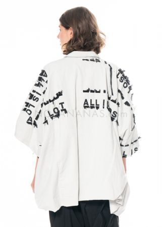RUNDHOLZ, ballonförmige One Size Jacke mit Stickerei 1211291106