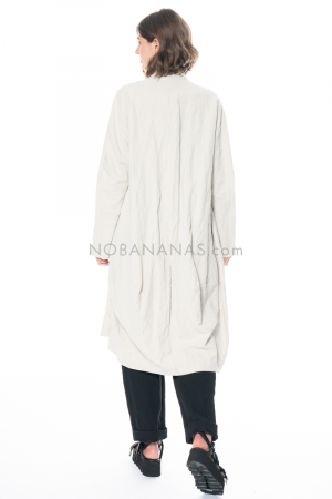 RUNDHOLZ, oversized summer coat with metal yarn 1211311201