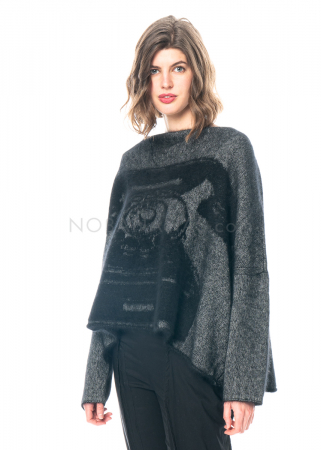 RUNDHOLZ, oversized pullover from combed raccoon 1211410702