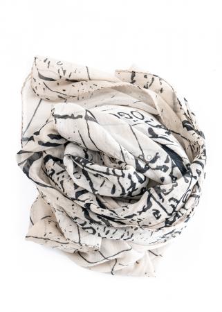 RUNDHOLZ, leichter Baumwollschal mit Print 1211601402