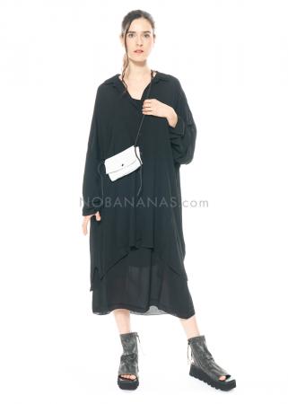 PAL OFFNER, schwarze oversized Bluse aus Georgette
