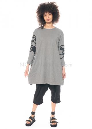 Moyuru, schlichte Tunika mit Print 211019