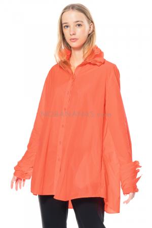 KATHARINA HOVMAN, oversized Bluse mit Blätterkragen marker 211258