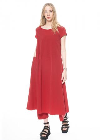 KATHARINA HOVMAN, Long Dress 211369 tomato