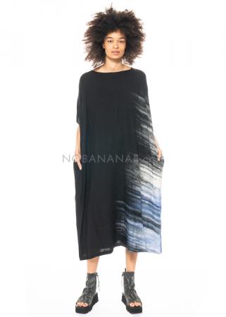 Moyuru, langes Kleid mit Färbemuster 211403